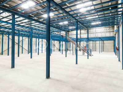 Warehouse for Rent in Industrial Area, Sharjah - Spacious warehouse with mezzanine for rent