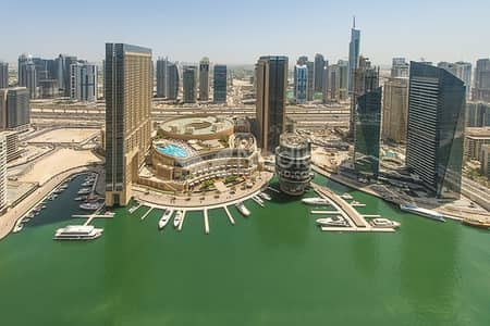 3 Bedroom Flat for Rent in Dubai Marina, Dubai - 3BR + Study | Bay Central West | Marina View | 2 Parkings