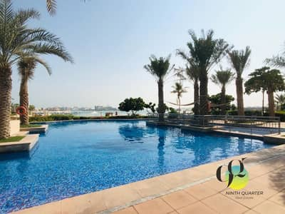 فلیٹ 1 غرفة نوم للايجار في نخلة جميرا، دبي - 13months Contract /Best View/ Call now