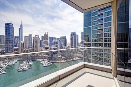 2 Bedroom Apartment for Sale in Dubai Marina, Dubai - Full Marina view on a high floor | Vacant now