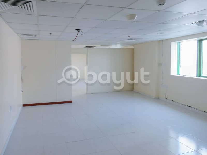 Deluxe Office for Rent -Free AC, No Commission, Maintenance Free. Abdul Aziz Al Majid Corniche Tower , Sharjah .