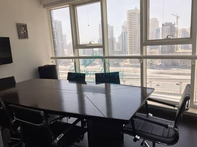 Office for Rent in Jumeirah Lake Towers (JLT), Dubai - Fitted N Furnished | Office Close to DMCC Metro Station