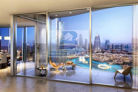 فلیٹ 4 غرف نوم للبيع في وسط مدينة دبي، دبي - Luxurious. Half floor- Facing Burj Khalifa & Fountain - Top World Class- DLD waived- 5 Years Payment Plan