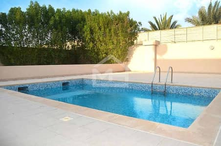 5 Bedroom Villa for Rent in Al Raha Golf Gardens, Abu Dhabi - Huge ready to move in 5+M+Private Pool