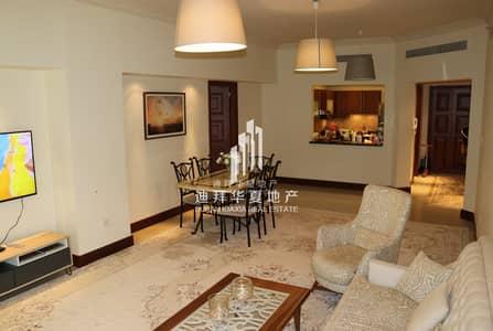 شقة 2 غرفة نوم للايجار في نخلة جميرا، دبي - Luxury Furnished 2+M | Type C| Burj Al Arab View