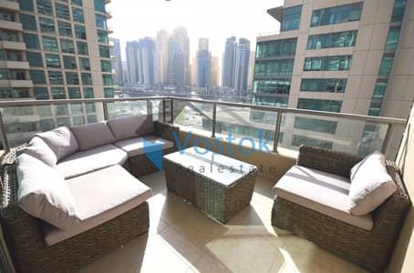 فلیٹ 2 غرفة نوم للايجار في دبي مارينا، دبي - شقة في المجرة 3 المجرة دبي مارينا 2 غرف 120000 درهم - 4333797