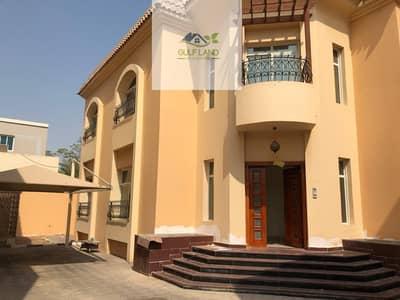 فیلا 7 غرفة نوم للايجار في بين الجسرين، أبوظبي - 7 master bedrooms villa for rent with maids room driver room in bein al jessrin area