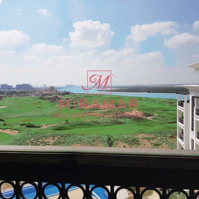 2 Bedroom Apartment for Rent in Yas Island, Abu Dhabi - FULL GOLF SEA VIEW MAIDS ROOM OPEN KITCHEN