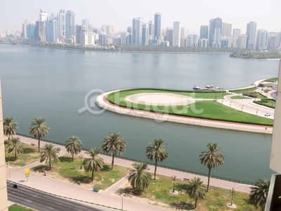 4 Bedroom Penthouse for Rent in Al Majaz, Sharjah - Chiller Free, Direct Fr Owner, No Commission,  Opposit. Al Majaz Amphitheater, Spacious  4 B/R Penthouse, Partial View Khalid Lagoon