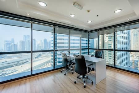 Office for Rent in Jumeirah Lake Towers (JLT), Dubai - Fitted office for rent I Mid Floor I JBC 4