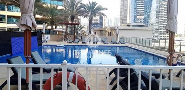 فلیٹ 1 غرفة نوم للايجار في دبي مارينا، دبي - Free chiller | Spacious 1 BR apt with pool view