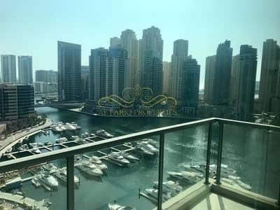 فلیٹ 2 غرفة نوم للايجار في دبي مارينا، دبي - MARINA VIEW | 2 BED + STUDY | VACANT | FURNISHED