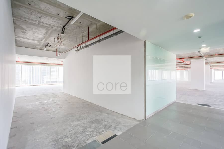 Shell and core office full floor vacant