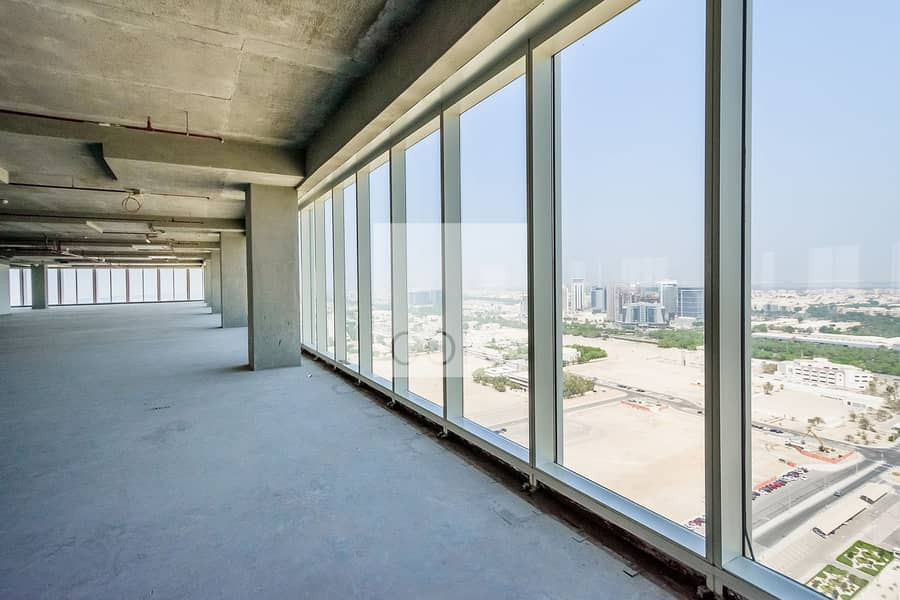 2 Full floor shell and core office spacious
