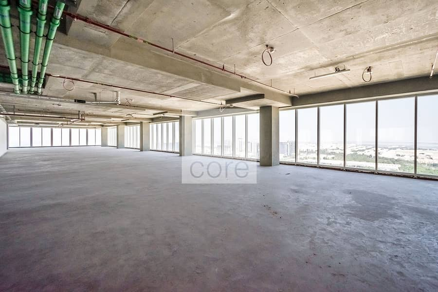 15 Full floor shell and core office spacious