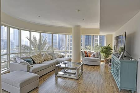 2 Bedroom Flat for Rent in Dubai Marina, Dubai - Panoramic Marina View | AC Free | Wood floor