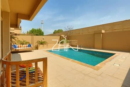 4 Bedroom Villa for Sale in Al Raha Golf Gardens, Abu Dhabi - Golf View! Single Row 4 BR Villa with Pool