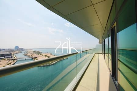 2 Bedroom Flat for Sale in Al Raha Beach, Abu Dhabi - Open Sea View Corner 2BR Apt Excellent Condition