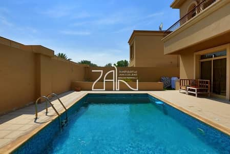 4 Bedroom Villa for Rent in Al Raha Golf Gardens, Abu Dhabi - Luxurious 4 BR Villa with Pool and Garden