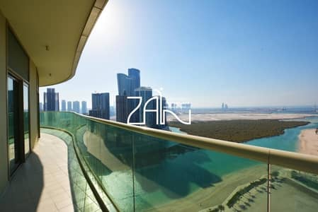 4 Bedroom Flat for Sale in Al Reem Island, Abu Dhabi - Sea View Modified 4 BR with Large Balcony