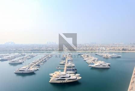 شقة 2 غرفة نوم للايجار في نخلة جميرا، دبي - Sea View | High Floor | Well Maintained