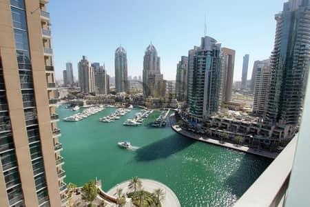 شقة 1 غرفة نوم للايجار في دبي مارينا، دبي - Luxury And Large One B/R With Great View