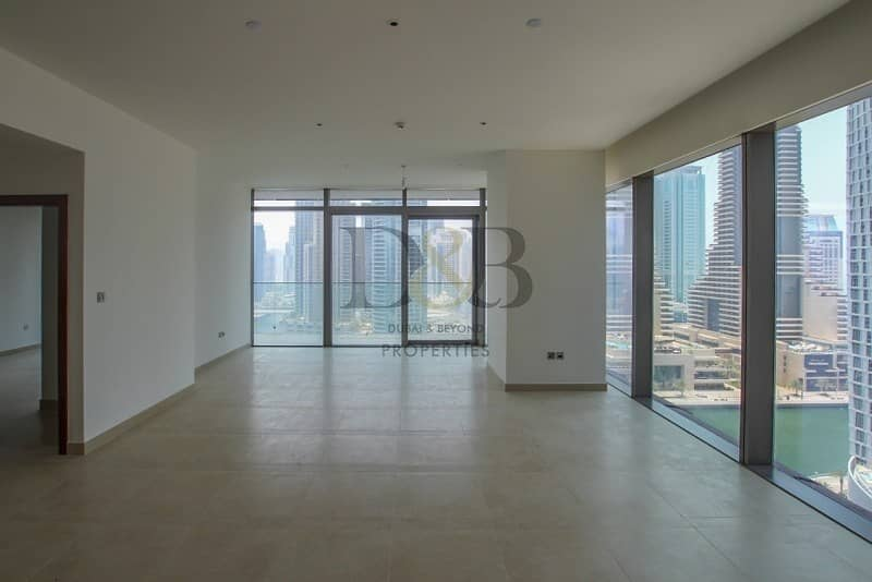 2 Spacious 3 BR+Full Marina View | Large Layout Unit