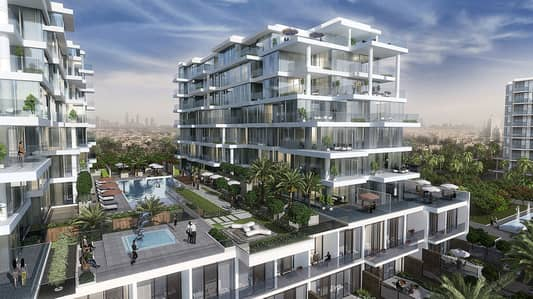 3 Bedroom Townhouse for Sale in DAMAC Hills (Akoya by DAMAC), Dubai - LIMITED TIME OFFER ! Own a Villa with stunning park views.  5% Downpayment  with 4 years payment plan