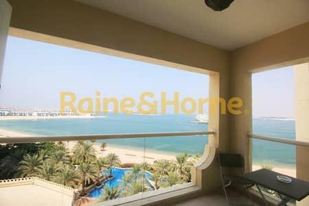 فلیٹ 1 غرفة نوم للايجار في نخلة جميرا، دبي - Sea View | Furnished | Beach Club Access