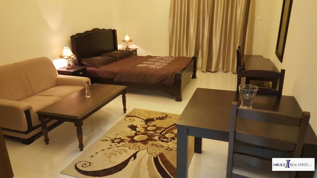 Furnished  Studio For Rent In Elite Residence 6 Dubai Sport City