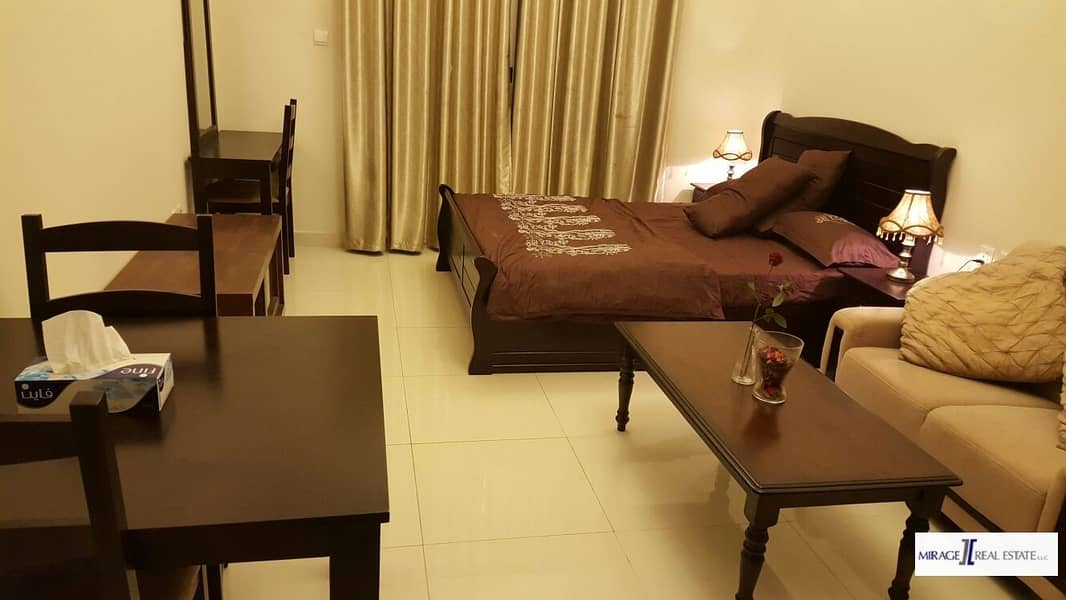8 Furnished  Studio For Rent In Elite Residence 6 Dubai Sport City