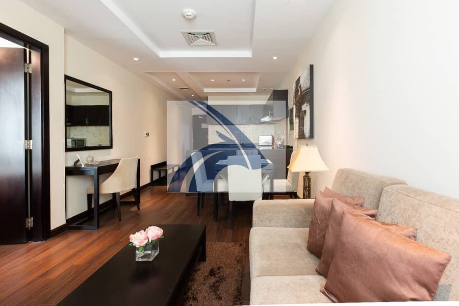 2 DIRECT FR OWNER | Stunning 1BR  Apt | Fully Furnished & Serviced | AED 5250 Monthly | 12 Cheques | NO AGENCY COMMISSION