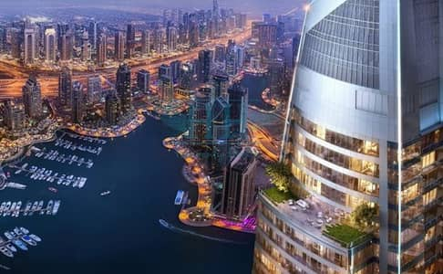 2 Bedroom Flat for Sale in Dubai Marina, Dubai - 4% DLD Waiver Pay 24% Move In I Stunning Marina Sea View l Fendi Style Fittings