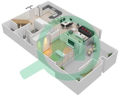 المخططات الطابقية لتصميم النموذج A شقة 3 غرف نوم - اويا رزيدنس