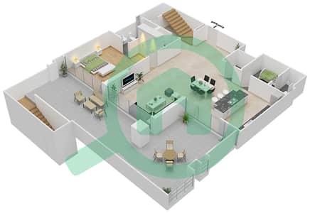 المخططات الطابقية لتصميم النموذج B شقة 4 غرف نوم - اويا رزيدنس