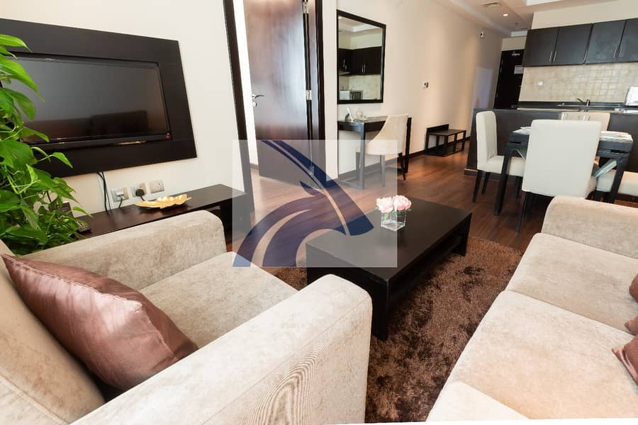 2 Beautiful 1BR   Fully Furnished & Serviced   AED 5950 Monthly    *12 Cheques   No Agency Commission   Direct From Owner