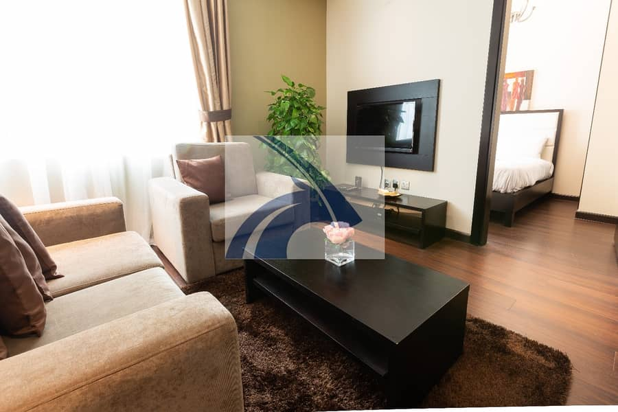 2 Luxury 1BR Apt | 69K |  *12 cheques | Fully Furnished & Serviced | No Agency Commission | Direct From Owner