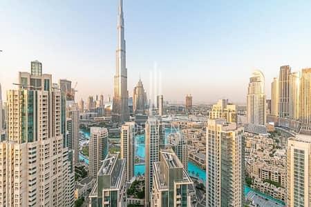 فلیٹ 3 غرف نوم للبيع في وسط مدينة دبي، دبي - High Floor 3Bedroom Plus Maid's Burj View