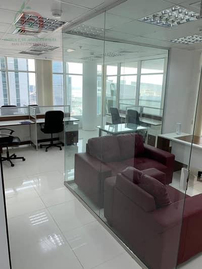 مکتب  للايجار في الخليج التجاري، دبي - Furnished OFFICE  in Clover Bay