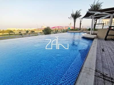 2 Bedroom Apartment for Sale in Yas Island, Abu Dhabi - Hot Deal! Pool View Large 2+M Apt with Balcony