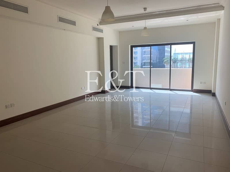 2 BR |Partly Sea View | Vacant | Bright unit | PJ