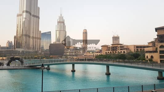فیلا 3 غرفة نوم للايجار في وسط مدينة دبي، دبي - Unique & Rare waterfront 3BR + Maid podium villa | Full fountain & Burj view