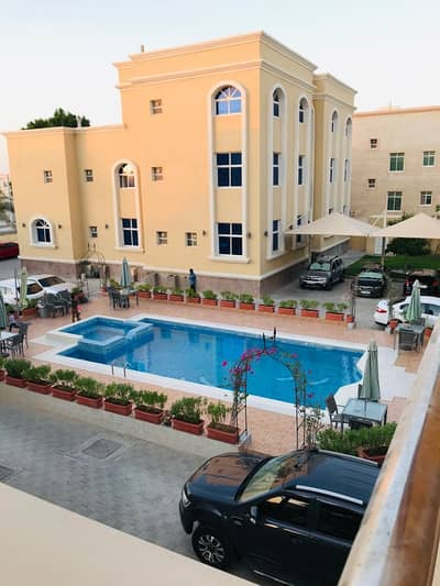 Studio for Rent in Shakhbout City (Khalifa City B), Abu Dhabi - Luxury Studio Aprt,With Swimming Pool Available In Villa For Rent At KHALIFA B.