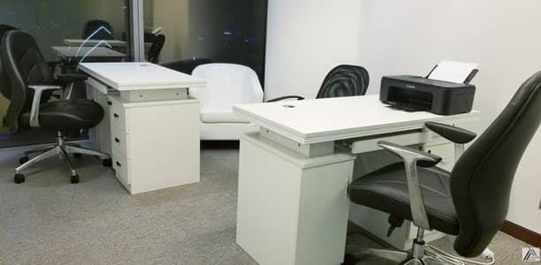 مکتب  للايجار في بر دبي، دبي - Fully Furnished & Serviced Sharing Offices With Panoramic view of Bur Dubai  With One Year Tenancy Contract.