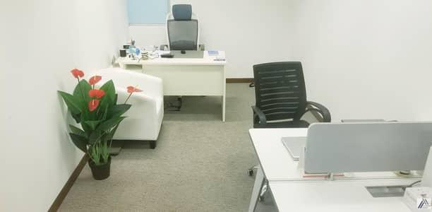 مکتب  للايجار في بر دبي، دبي - Fully Furnished & Serviced Independent Offices in Beautiful Land Mark Building  Linked with Burjuman Metro & Mall