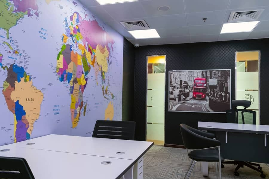 10 Fully furnished executive offices with dewa & parking -NO COMMISSION!