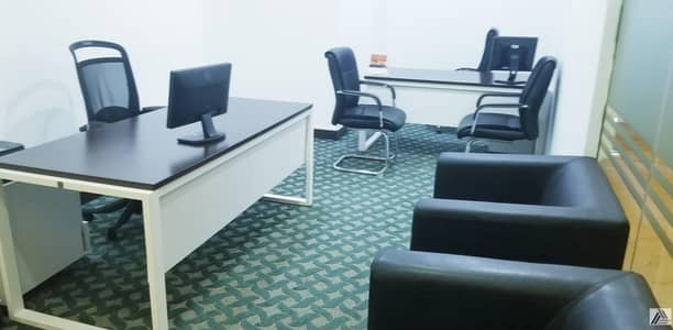Office for Rent in Sheikh Zayed Road, Dubai - Fully Furnished & Serviced Independent Offices in Beautiful Near Land Mark Building one minute walk from D.I.F.C Metro.