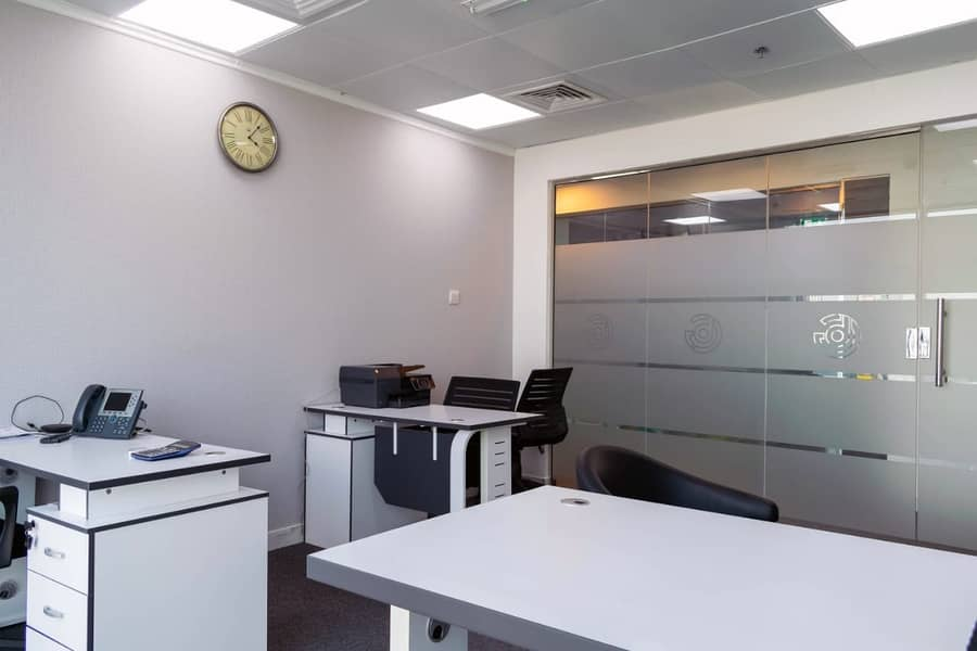 2 Fully furnished office spaces with Dewa & Parking- No Commission!