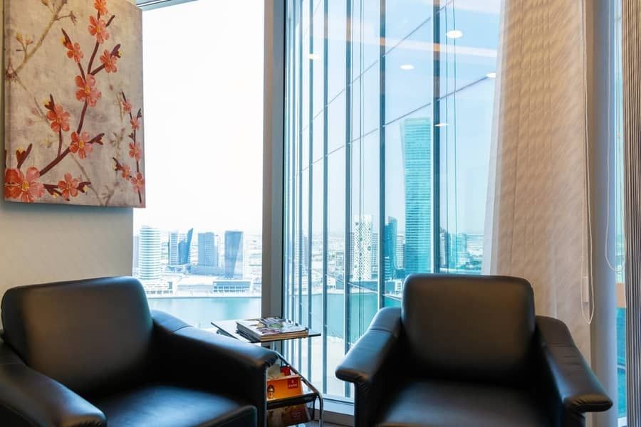 8 Fully furnished office spaces with Dewa & Parking- No Commission!