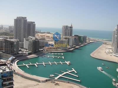 استوديو  للايجار في دبي مارينا، دبي - Amazing Full Sea View Studio at Zumurud Tower